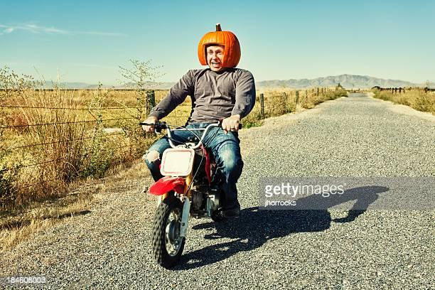 Redneck Pumpkin Motorcycle Racer