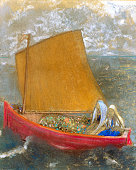 Redon Odilon La Voile Jaune c 1905 pastel on paper 47 x 584 cm Indianapolis Museum of Art Indianapolis Indiana