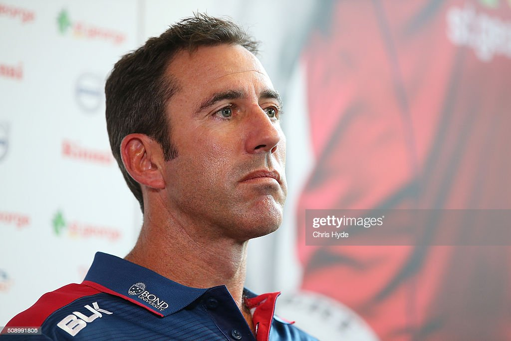 Reds Head Coach Richard Graham speaks to media during a Reds Super Rugby media opportunity at Ballymore Stadium on February 8, 2016 in Brisbane, Australia.