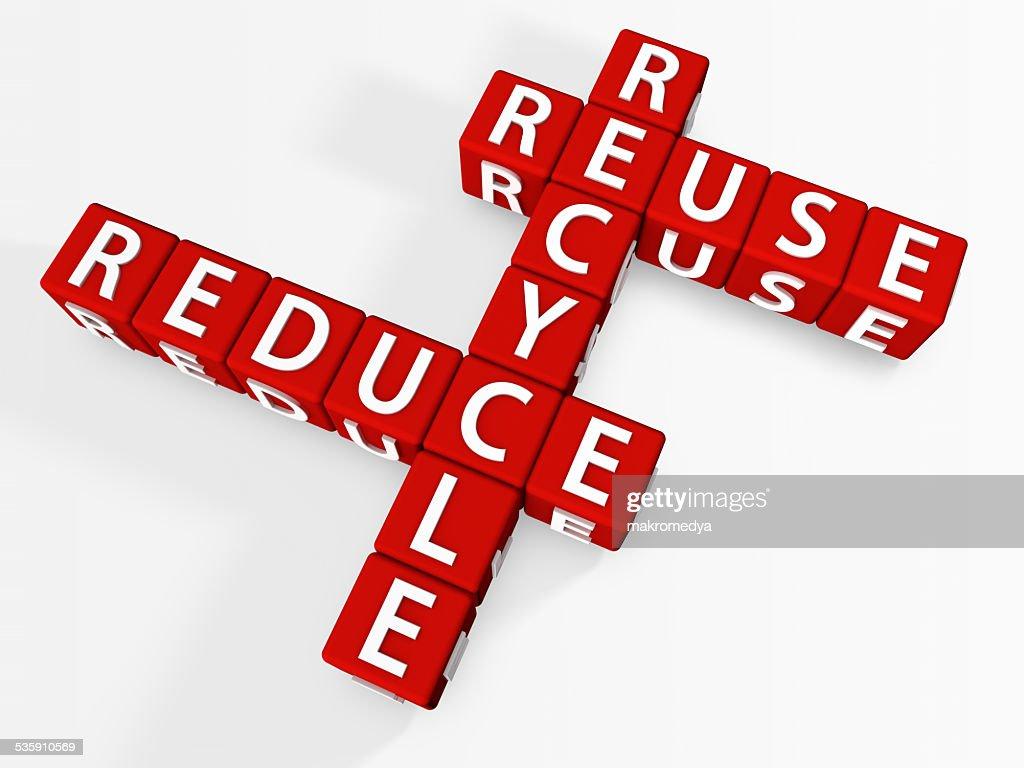 Reduzca, reutilice, recicle : Foto de stock