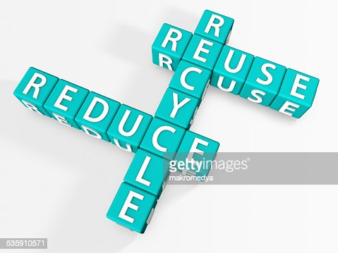 Reduce, Recycle, Reuse : Stock Photo