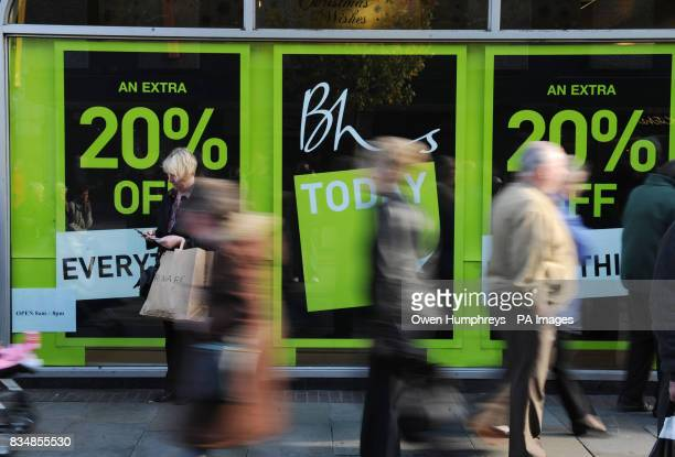 Reduced prices at high street retailer British Home Stores in Newcastle's Northumberland Street