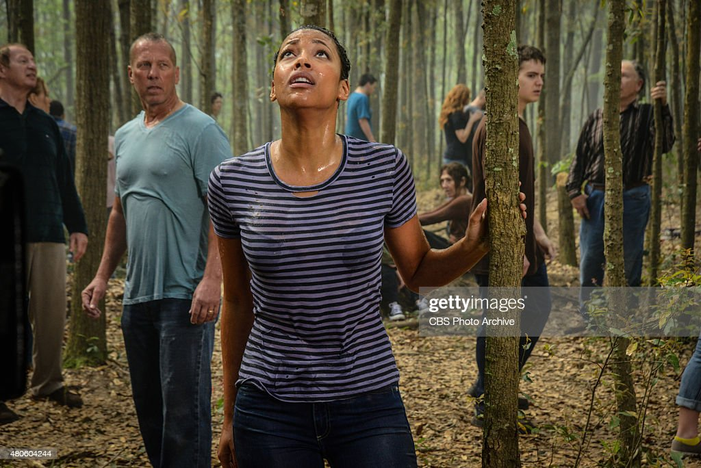 'Redux' -- New town resident Eva (Kylie Bunbury) emerges with the rest of the Chester's Mill residents from beneath the caves underneath town on, UNDER THE DOME, Thursday, July 2 (10:00-11:00 PM ET/PT), on the CBS Television Network.