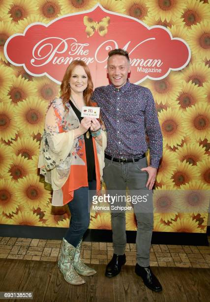 Ree Drummond and guest attend The Pioneer Woman Magazine Celebration with Ree Drummond at The Mason Jar on June 6 2017 in New York City