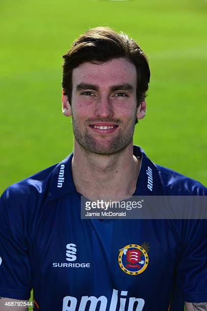 Reece J W Topley of Essex poses during an Essex CCC Photocall on April 7 2015 in Chelmsford England
