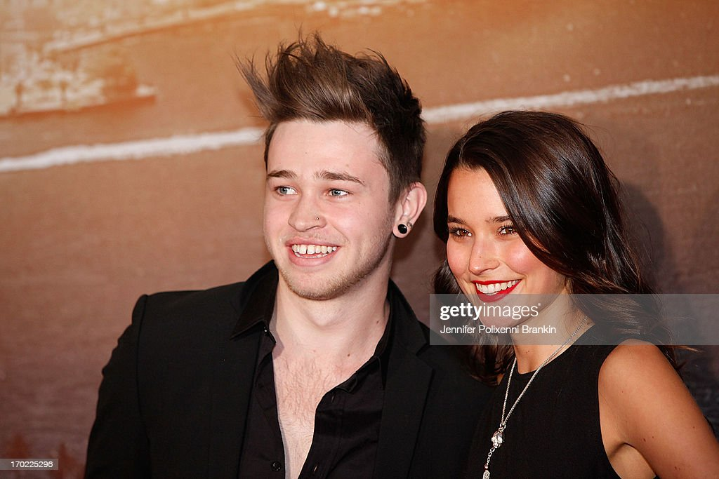 Reece Mastin and Rhiannon Fish arrive at the 'World War Z' Australian premiere at the Star on June 9, 2013 in Sydney, Australia.
