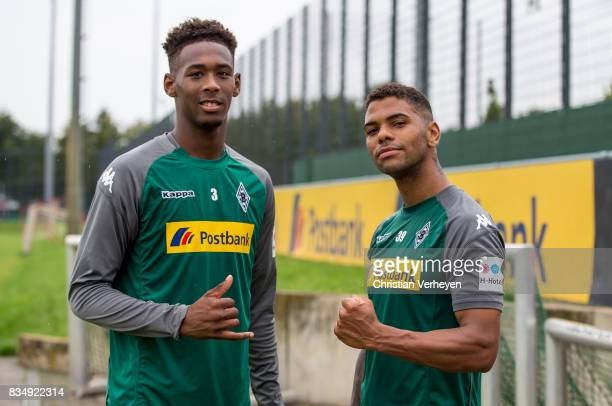 Reece Oxford and Kwame Yeboah during a training session of Borussia Moenchengladbach at BorussiaPark on August 18 2017 in Moenchengladbach Germany