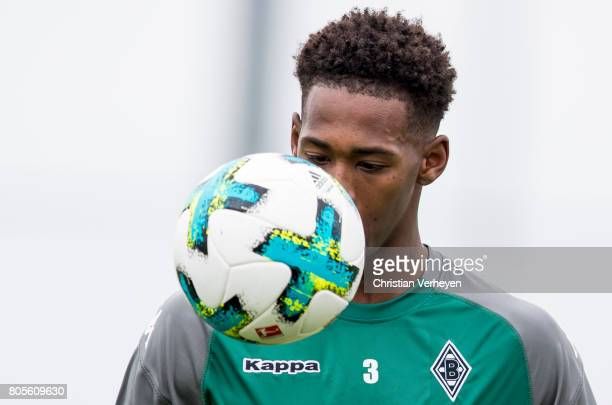 Reece Oxford during a training session of Borussia Moenchengladbach at BorussiaPark on July 02 2017 in Moenchengladbach Germany
