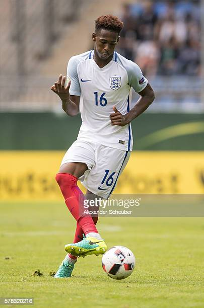 Reece Oxford of England during the U19 Match between England and Italy at CarlBenzStadium on July 21 2016 in Mannheim Germany