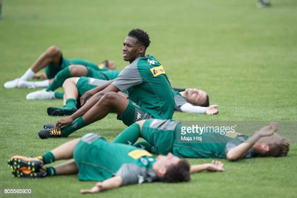 Reece Oxford of Monchengladbach looks on during Training Session on July 2 2017 in Moenchengladbach Germany