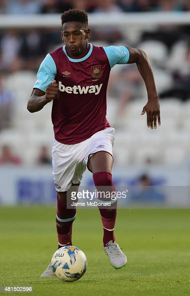 Reece Oxford of West Ham United in action during the pre season friendly match between Colchester and West Ham United at Weston Homes Community...