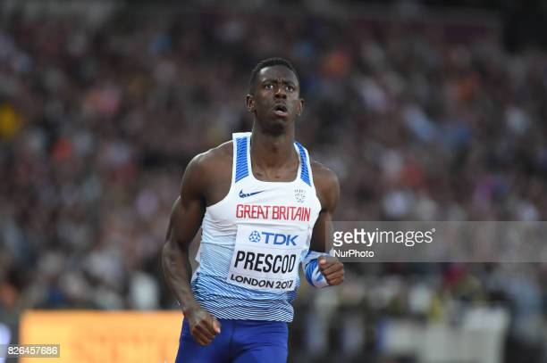 Reece PRESCOD during 100 meter first round at London Stadium in London on August 4 2017 at the 2017 IAAF World Championships athletics
