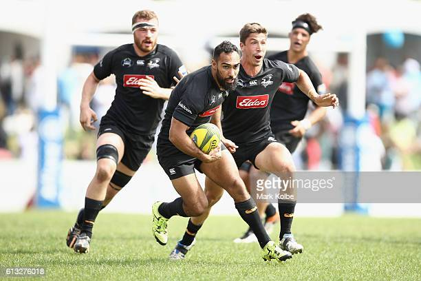 Reece Robinson of the Eagles runs the ball during the round seven NRC match between the Western Sydney Rams and the NSW Country Eagles at Concord...