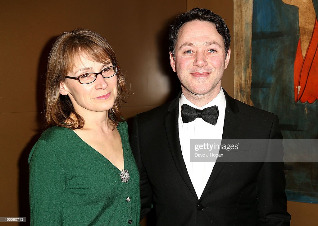 Reece Shearsmith (R) and wife Jane attend the London Critics' Circle Film Awards at The Mayfair Hotel on February 2, 2014 in London, England.