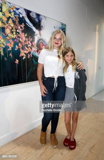 Reece Viola Hamilton and Brody Jo Hamilton attend the Michael Muller and Sage Vaughn exhibit presented by Untitled Projects Vernissage and Agolde at...