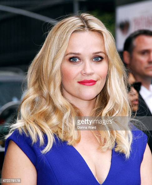 Reece Witherspoon visits 'The Late Show with David Letterman' at the Ed Sullivan Theater on May 5 2015 in New York City