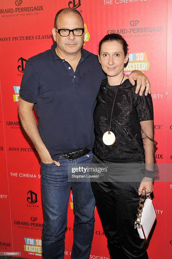 Reed and <a gi-track='captionPersonalityLinkClicked' href=/galleries/search?phrase=Delphine+Krakoff&family=editorial&specificpeople=4439301 ng-click='$event.stopPropagation()'>Delphine Krakoff</a> attends Girard-Perregaux And The Cinema Society With DeLeon Host a Screening Of Sony Pictures Classics' 'I'm So Excited' at Sunshine Landmark on June 6, 2013 in New York City.