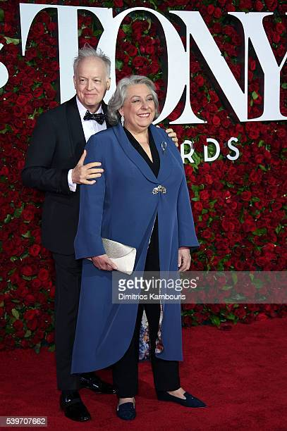 Reed Birney and Jayne Houdyshell attend the 70th Annual Tony Awards at The Beacon Theatre on June 12 2016 in New York City