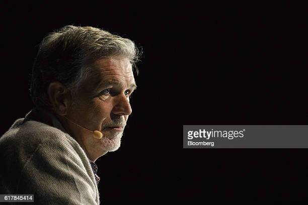 Reed Hastings chief executive officer of Netflix Inc listens during the WSJDLive Global Technology Conference in Laguna Beach California US on Monday...