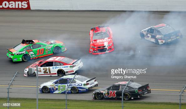 Reed Sorenson driver of the Chevrolet Casey Mears driver of the Geico Chevrolet Trevor Bayne driver of the Motorcraft/Quick Lane Tire Auto Center...