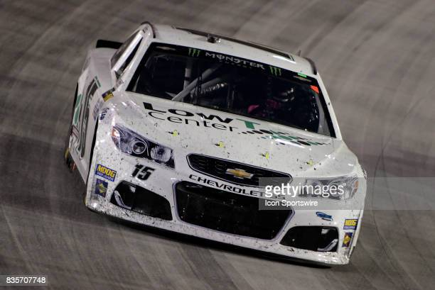 Reed Sorenson Premium Motorsports Toyota Camry drives through turn four during the Bass Pro Shops NRA Night Race on August 19 at the Bristol Motor...