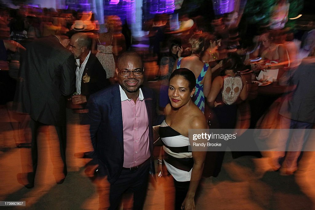 Reel Code Founder Isaac Daniel with CEO Alexia Jones At Mercedes-Benz Fashion Week Swim 2014 - Kick Off Party at Raleigh Hotel on July 18, 2013 in Miami Beach, Florida.