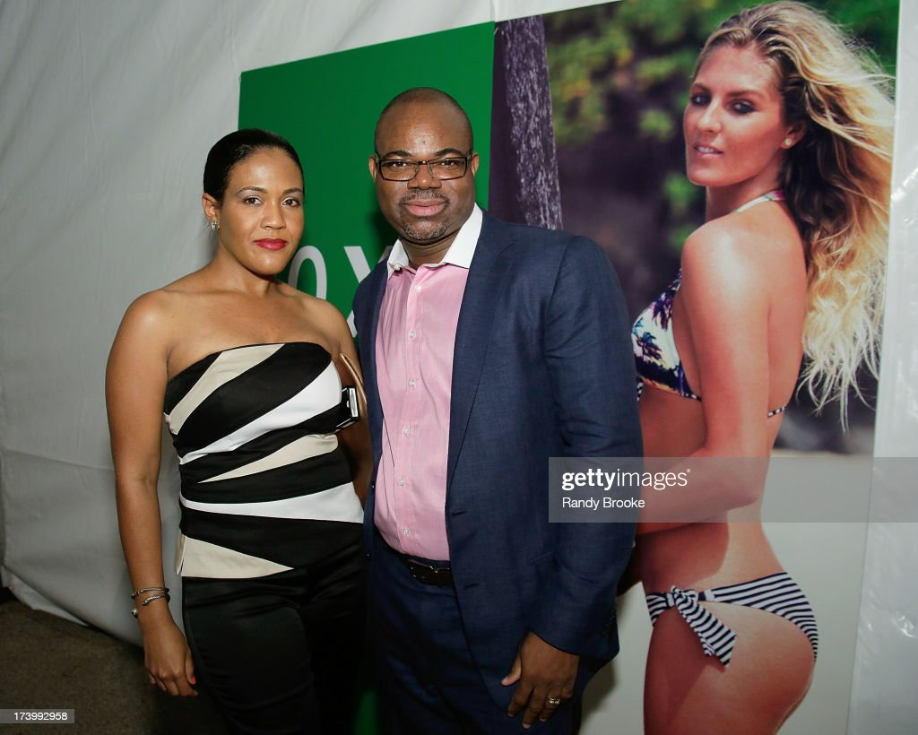 Reel Code Media's Alexia Jones and Isaac Daniel At Mercedes-Benz Fashion Week Swim 2014 - Kick Off Party at Raleigh Hotel on July 18, 2013 in Miami Beach, Florida.