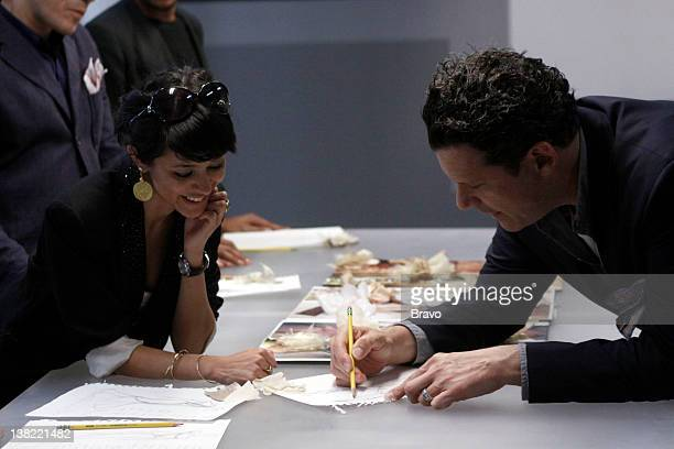 COLLECTION 'Reel to Genteel' Episode 205 Pictured Contestant Golnessa Farmanara cohost Isaac Mizrahi