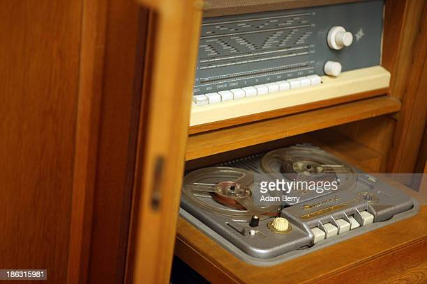 A reeltoreel tape recorder is displayed at the Stasi or East German Secret Police Museum on October 30 2013 in Berlin Germany German officials have...