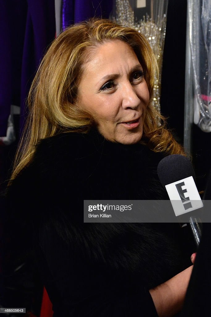 <a gi-track='captionPersonalityLinkClicked' href=/galleries/search?phrase=Reem+Acra+-+Fashion+Designer&family=editorial&specificpeople=8798513 ng-click='$event.stopPropagation()'>Reem Acra</a> backstage at the <a gi-track='captionPersonalityLinkClicked' href=/galleries/search?phrase=Reem+Acra+-+Fashion+Designer&family=editorial&specificpeople=8798513 ng-click='$event.stopPropagation()'>Reem Acra</a> fashion show during Mercedes-Benz Fashion Week Fall 2014 at The Salon at Lincoln Center on February 10, 2014 in New York City.