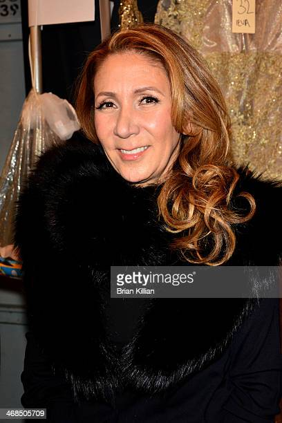 Reem Acra backstage at the Reem Acra fashion show during MercedesBenz Fashion Week Fall 2014 at The Salon at Lincoln Center on February 10 2014 in...