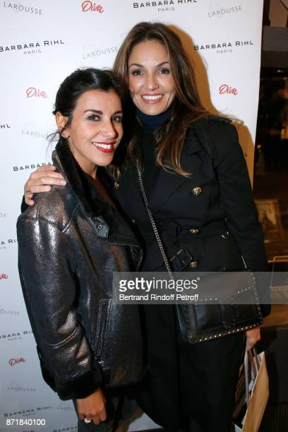 Reem kherici and Nadia Fares attend Reem Kherici signs her book 'Diva' at the Barbara Rihl Boutique on November 8 2017 in Paris France