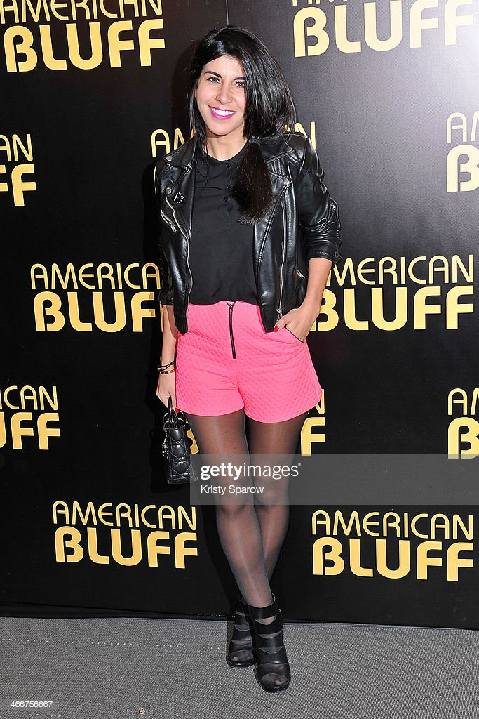 Reem Kherici attends the 'American Bluff' Paris Premiere at Cinema UGC Normandie on February 3, 2014 in Paris, France.