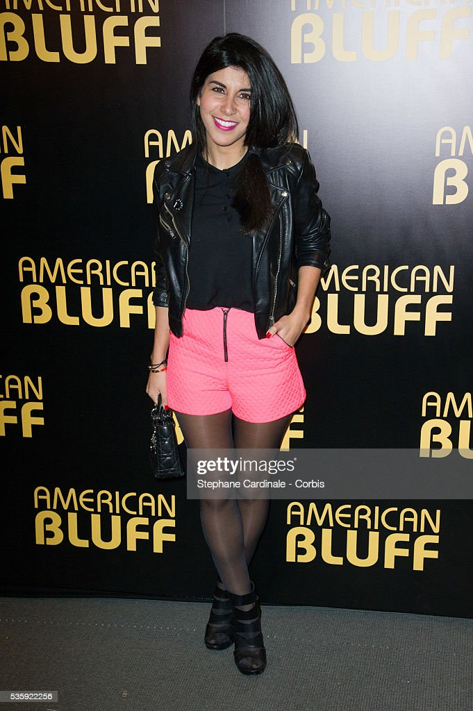 Reem Kherici attends the 'American Bluff' Paris Premiere at Cinema UGC Normandie, in Paris.