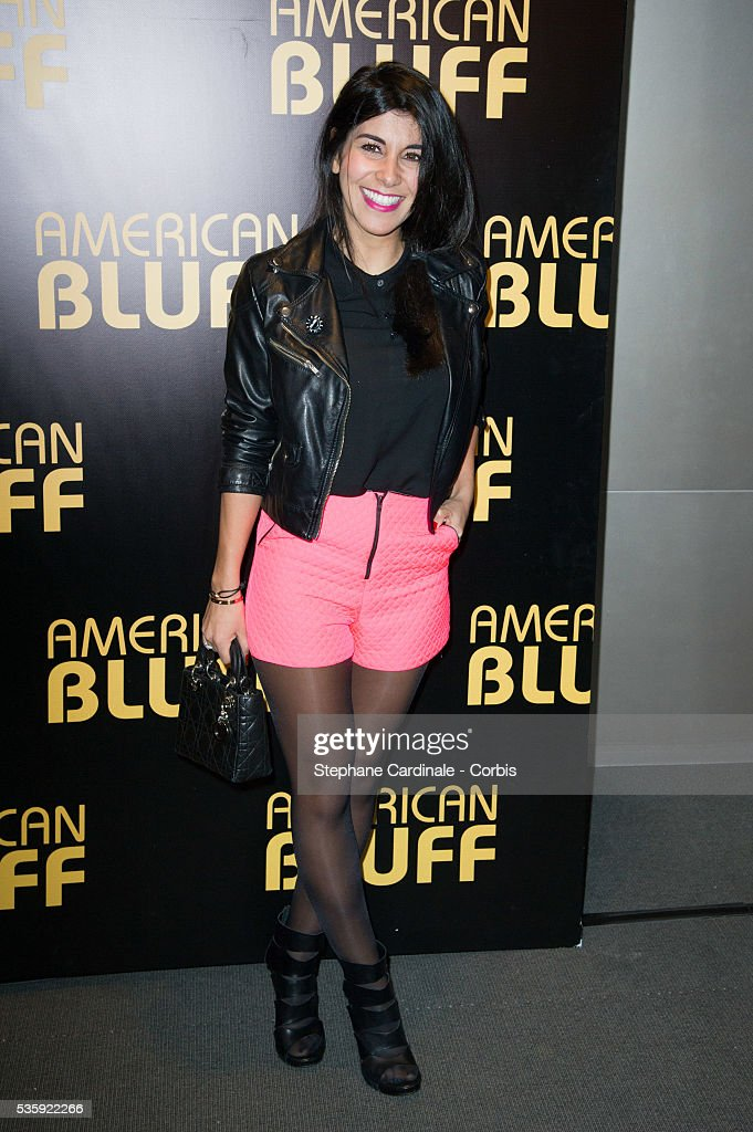 Reem Kherici attends the 'American Bluff' Paris Premiere at Cinema UGC Normandie, in Paris.