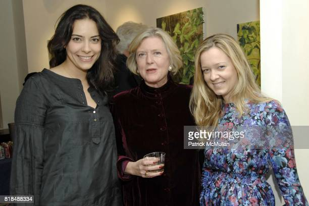 """Reem Mobassaleh Lucy Tower Aurora Tower attend Leila TaghiniaMilani Heller Gallery presents Elizabeth's Thompson's """"The Everglades"""" at 39 East 78th..."""