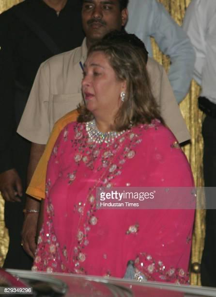 Reema Jain at the wedding of Aishwarya and Abhishek Bachchan