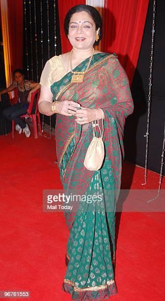 Reema Lagoo at the Zee Rishtey awards in Mumbai on Saturday February 13 2010