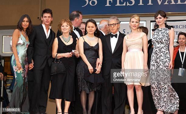 Reena Hammer Jonathan RhysMeyers SoonYi Previn Woody Allen Scarlett Johansson and Emily Mortimer