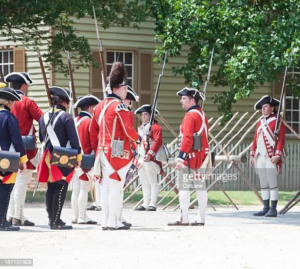 Reenactment of Redcoats Seizing Williamsburg