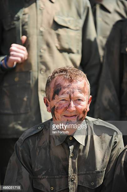 Reenactor Lee Ingleby from Saltburn poses for pictures at the start of a commemoration event to remember the World War one truce football match on...
