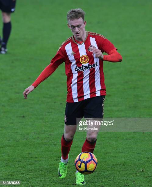 Rees Greenwood of Sunderland during the Premier League International Cup Quarter Final match between Sunderland U23 and Athletic Bilbao U23 at the...