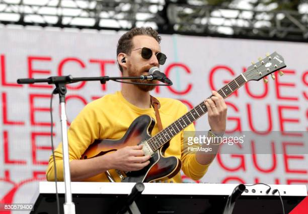Reese Richardson of Electric Guest performs on the Twin Peaks Stage during the 2017 Outside Lands Music And Arts Festival at Golden Gate Park on...