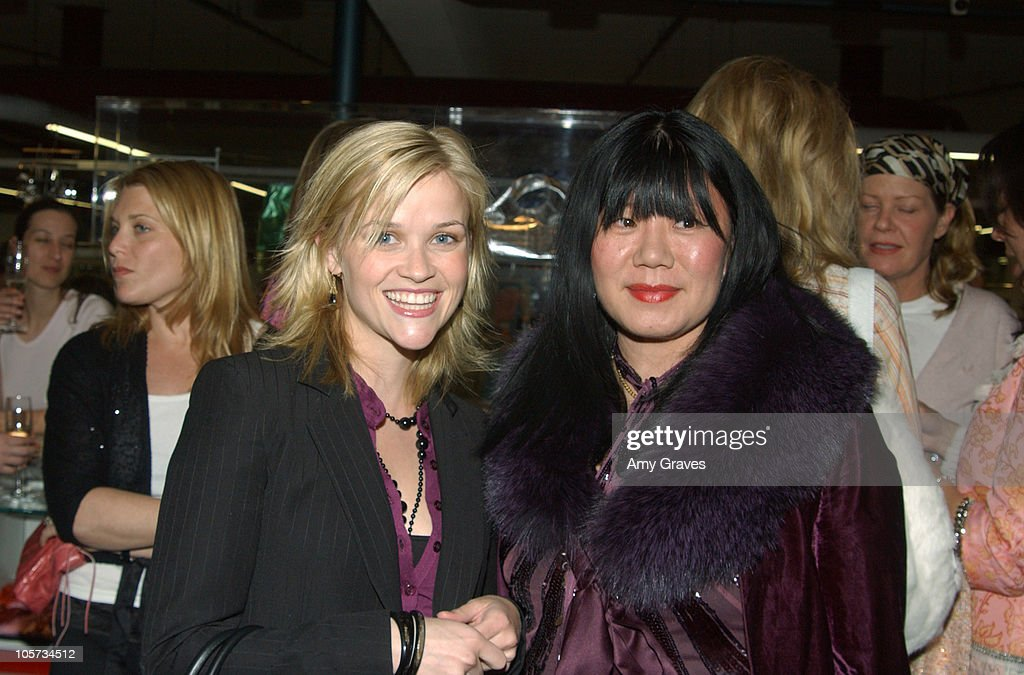 Reese Witherspoon and Anna Sui, designer during Vogue and Samsung Present the Anna Sui Mobile at Fred Segal Store in Santa Monica, California, United States.