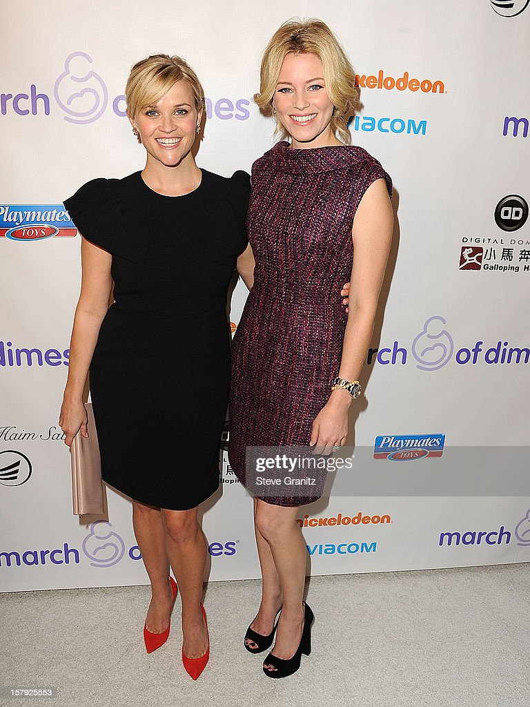 Reese Witherspoon and Elizabeth Banks arrives at the March Of Dimes' Celebration Of Babies at Beverly Hills Hotel on December 7, 2012 in Beverly Hills, California.