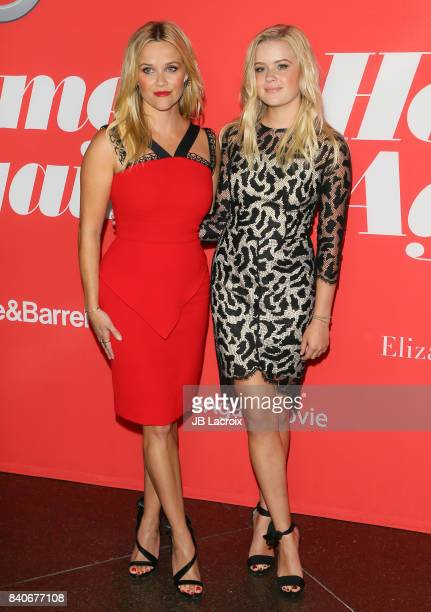 Reese Witherspoon and her daughter Ava Elizabeth Phillippe attend the premiere of Open Road Films' 'Home Again' on August 29 2017 in Los Angeles...
