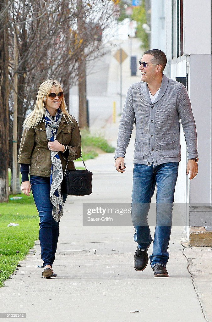 Reese Witherspoon and her husband Jim Toth are seen on January 22 2012 in Los Angeles California