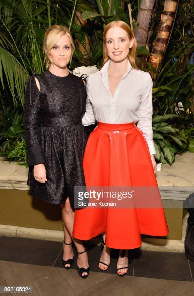 Reese Witherspoon and Jessica Chastain attend ELLE's 24th Annual Women in Hollywood Celebration presented by L'Oreal Paris Real Is Rare Real Is A...