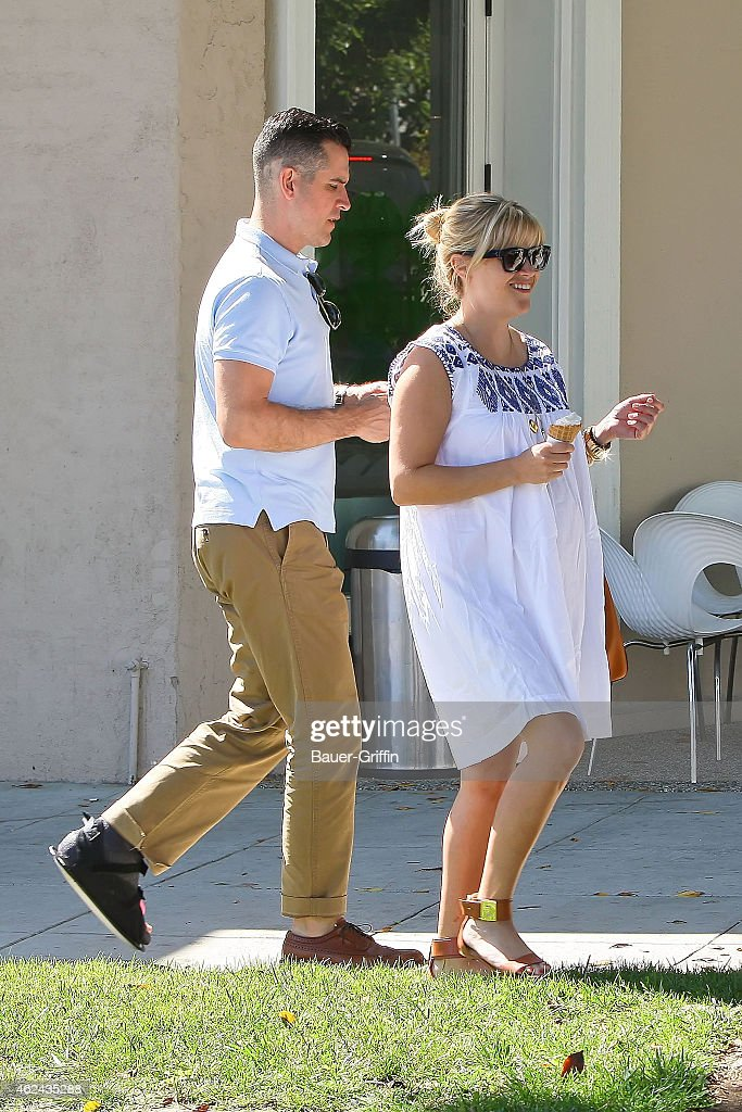 Reese Witherspoon and Jim Toth are seen on August 07 2012 in Brentwood California