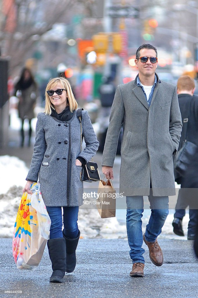 Reese Witherspoon and Jim Toth are seen on February 14 2014 in New York City
